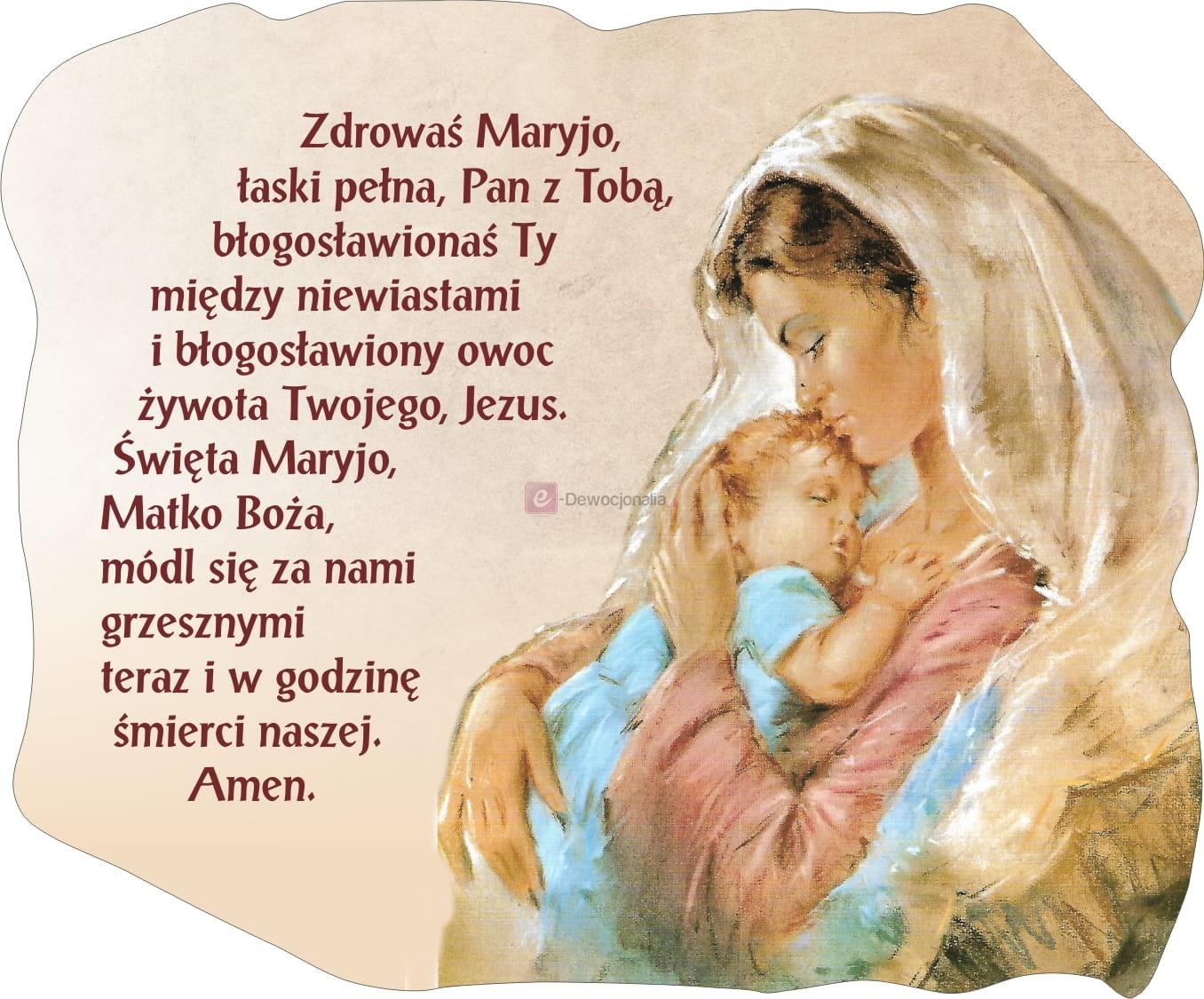 MAGNES - Zdrowaś Maryjo 11x9cm Dewocjonalia Sklep Internetowy - Chrzest &  Komunia
