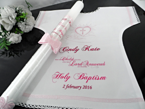 Personalised Christening Candle & Garment, Baptism